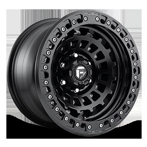 Fuel Forged Wheels Zephyr Beadlock - D101 5 Matte Black w/ Matte Black Ring