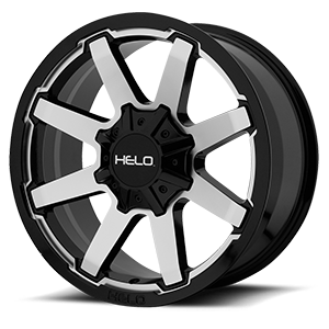 Helo Wheels HE909 6 Gloss Black Machined