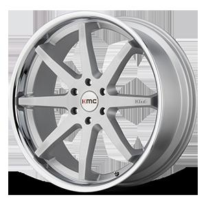 KMC Wheels KM715 Reverb 5 Brushed Chrome Lip