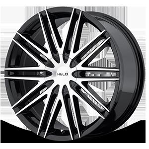 Helo Wheels HE880 5 Gloss Black w/ Machined Face