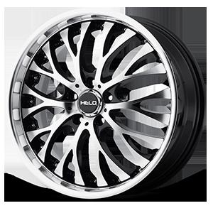 Helo Wheels HE890 5 Gloss Black w/ Machined Face