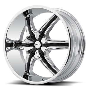 Helo Wheels HE891 5 Chrome w/ Gloss Black and Chrome Accents
