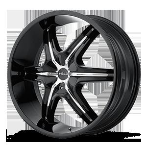 Helo Wheels HE891 5 Gloss Black w/ Gloss Black and Chrome Accents