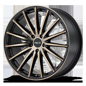 Helo Wheels HE894 5 Satin Black w/ Dark Tint Clear Coat