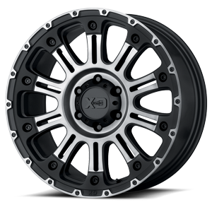 XD Wheels XD829 Hoss II 6 Satin Black Machined w/ Gray Tint