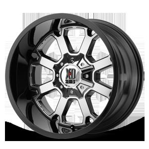 XD Wheels XD825 Buck 25 8 PVD Center w/ Gloss Black Lip
