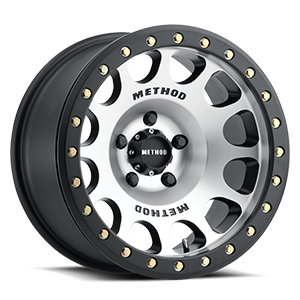 Method Race Wheels MR105 Beadlock 5 Machined with Matte Black Ring