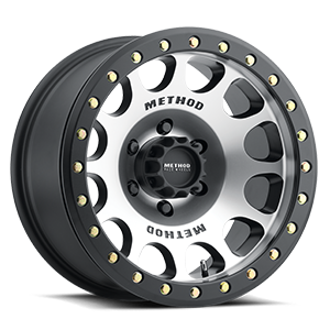 Method Race Wheels MR105 Beadlock 6 Machined with Matte Black Ring