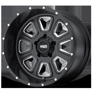 Moto Metal MO972 5 Satin Black w/ Milled Spokes & Flange