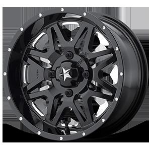 M26 Vibe Gloss Black & Milled 4 lug