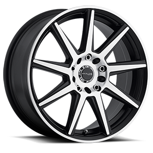 Raceline Wheels 144 Storm 5 Black Machined