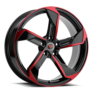 R20 Black/Red 5 lug