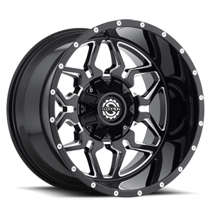 SC-16 Black Milled 5 lug