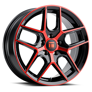 Touren Wheels TR79 5 Gloss Black Red Face