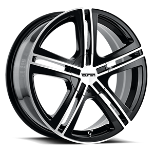Touren Wheels TR62 5 Gloss Black Machined Face