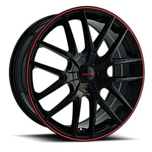 TR60 Black w/ Red Trim 4 lug