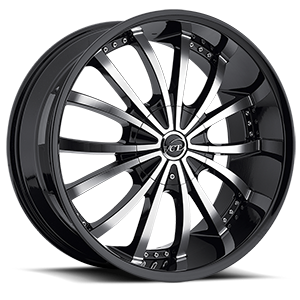 Mancini Black & Machined 5 lug