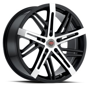 R19 Satin Black Machined 5 lug