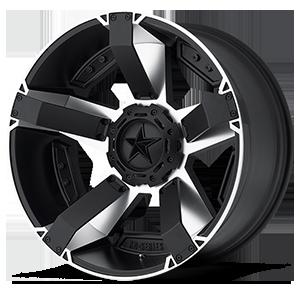 XD Wheels XD811 ROCKSTAR II 8 Matte Black Machined w/ Accents