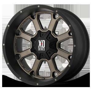 XD Wheels XD825 Buck 25 8 Matte Black w/ Dark Tint