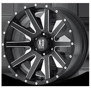 XD Wheels XD818 Heist 6 Satin Black Milled
