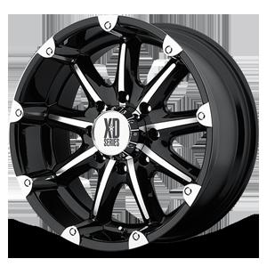 XD Wheels XD779 Badlands 8 Gloss Black Machined