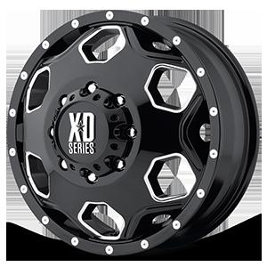 XD Wheels XD815 Battalion 8 Gloss Black w/ Milled Accents