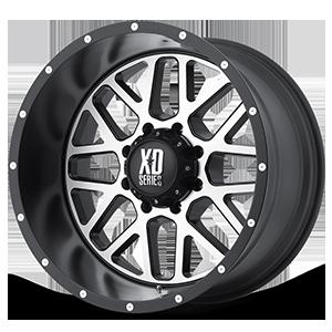 XD Wheels XD820 Grenade 8 Satin Black w/ Machined Face