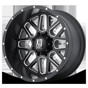 XD Wheels XD820 Grenade 8 Satin Black w/ Milling