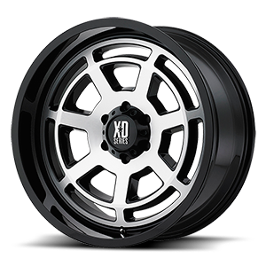 XD Wheels XD824 Bones 6 Gloss Black Machined