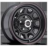 5 LUG AR767 GLOSS BLACK W/ STRIPES