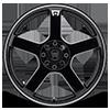 4 LUG MR116 GLOSS BLACK W/ MACHINED FLANGE