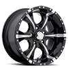 6 LUG HE791 MAXX GLOSS BLACK MILLED