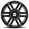 6 LUG MO951 GLOSS BLACK MACHINED