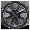 8 LUG AX188 LEDGE CAST IRON BLACK