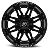 6 LUG XF-204 MATTE BLACK - 20X10