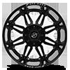6 LUG XF-204 BLACK MILLED WINDOW - 24X14