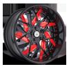5 LUG AF832 BLACK AND RED
