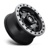 4 LUG ANZA BEADLOCK - D917 - UTV 14X7 ET38 | MATTE BLACK W/ ANTHRACITE RING