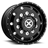 10 LUG AO400HD BAJA - HEAVY DUTY HIGH GLOSS BLACK MILLED - 12.25