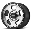 6 LUG AR969 ANSEN OFF ROAD MACHINED FACE W/ SATIN BLACK RING