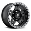 5 LUG ANZA - D557 MATTE BLACK W/ ANTHRACITE RING
