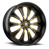 5 LUG AF867 GLOSS BLACK WITH YELLOW ACCENTS