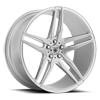 5 LUG ABL-12 ORION BRUSHED SILVER W/ GLOSS BLACK INSERTS