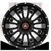 6 LUG AB808 BLACKHAWK GLOSS BLACK MILLED