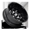 8 LUG BLITZ DUALLY REAR - D673 GLOSS BLACK & MILLED