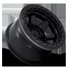 6 LUG BLOCK BEADLOCK - D122 MATTE BLACK WITH BLACK RING