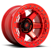 6 LUG BLOCK BEADLOCK - D123 CANDY RED WITH RED RING
