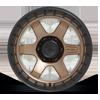6 LUG BLOCK - D751 MATTE BRONZE WITH BLACK RING