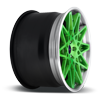 5 LUG BLQ CANDY GREEN W/ BRUSHED LIP